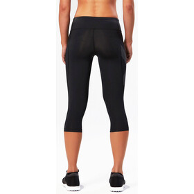 2XU Mid-Rise Compression 3/4 Mallas Mujer, black/dotted reflective logo
